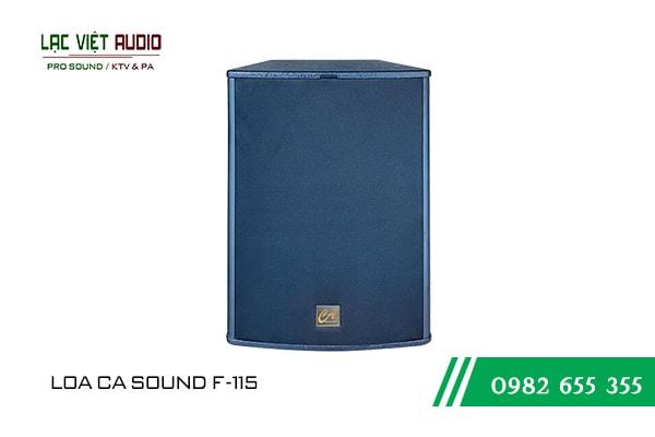 Giới thiệu về sản phẩm Loa CA Sound F115