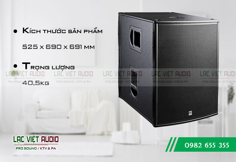 Thiết kế của sản phẩm Loa sub HK PL 118A