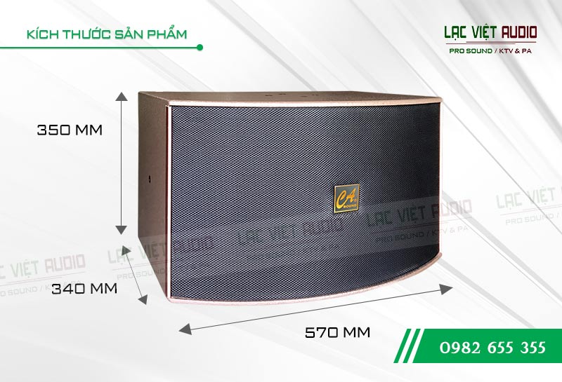 Thiết kế bên ngoài của sản phẩm Loa CA Sound K312