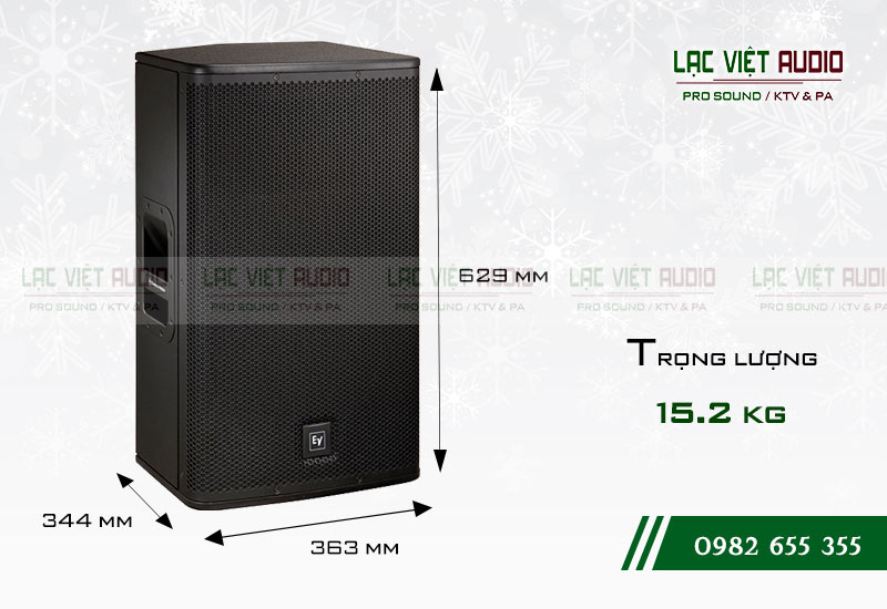 Thiết kế bên ngoài của sản phẩm Loa EV ELX200 15