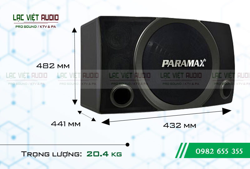 Thiết kế của thiết bị Loa Paramax SC 2500 NEW