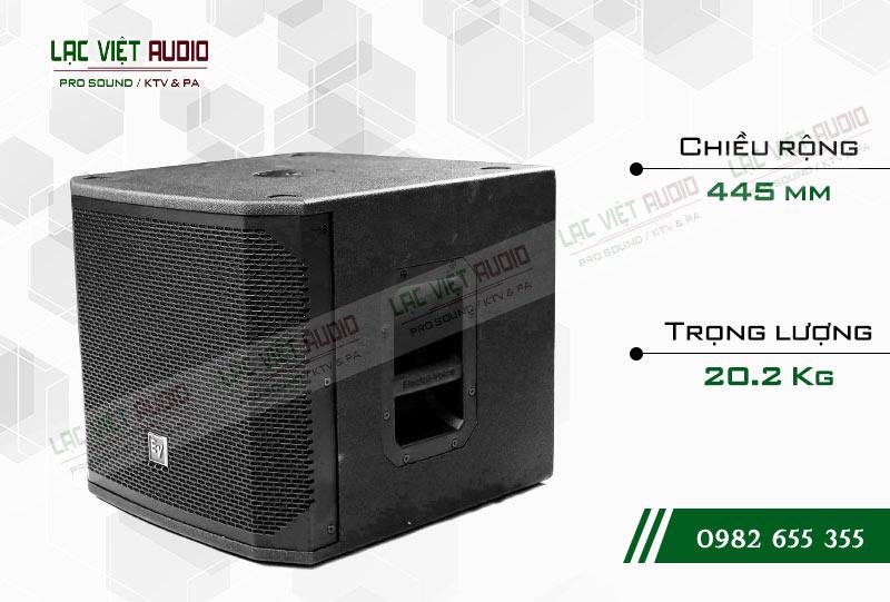 Thiết kế của sản phẩm Loa sub EV ELX200 12S