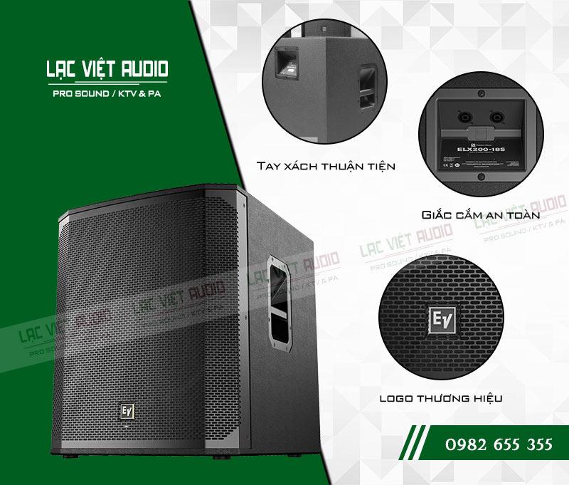 Các tính năng nổi bật của sản phẩm Loa sub EV ELX200 18S