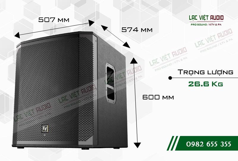 Thiết kế của sản phẩm Loa sub EV ELX200 18S