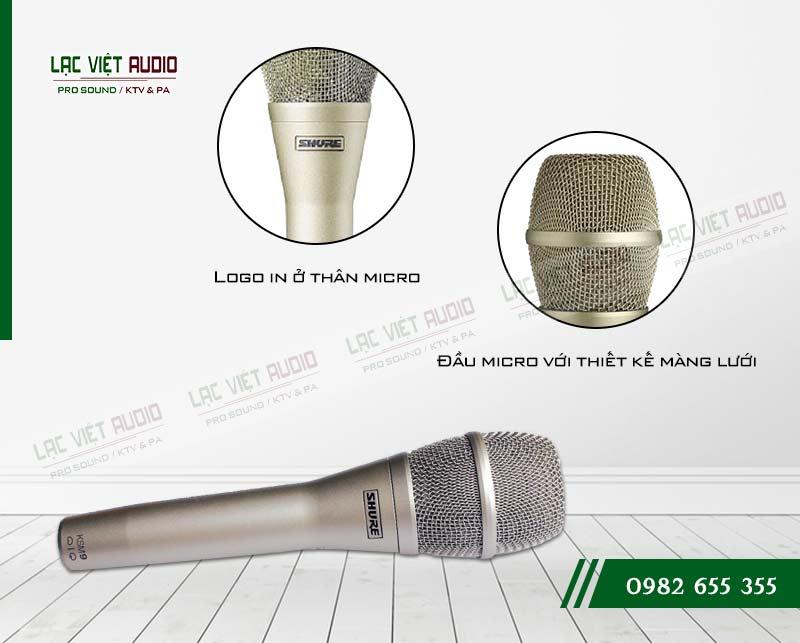 Thiết kế bên ngoài của sản phẩm Micro SHURE KSM9