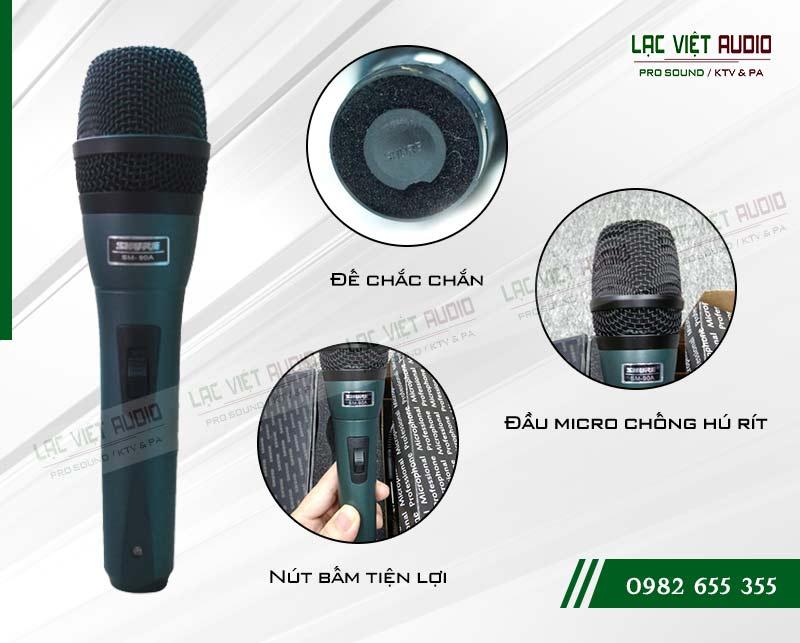 Tính năng nổi bật của sản phẩm Micro SHURE SM 90A