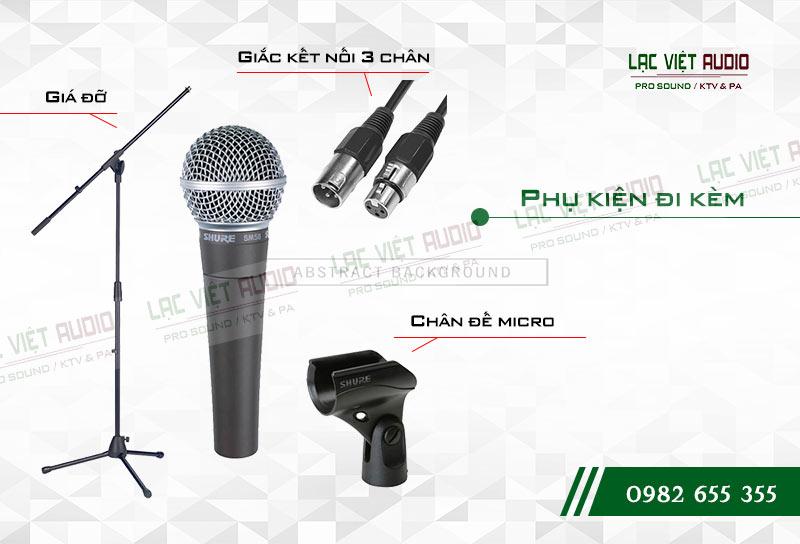 Tính năng nổi bật của sản phẩm Micro có dây SHURE SM58