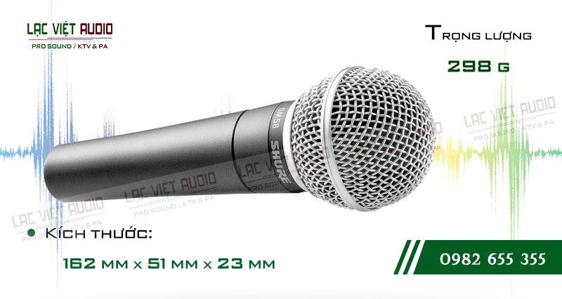 Thiết kế của sản phẩm Micro có dây SHURE SM58