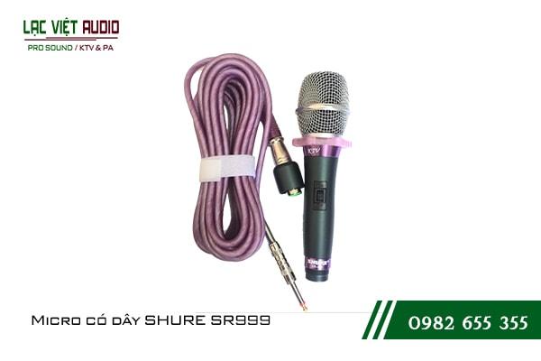 Giới thiệu về sản phẩm Micro có dây SHURE SR999