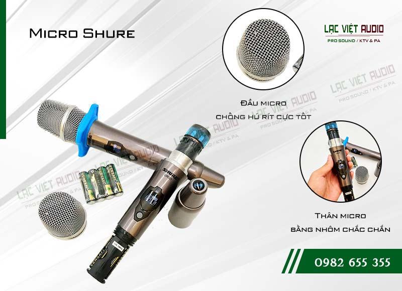 Các tính năng nổi bật của sản phẩm Micro shure UR9D