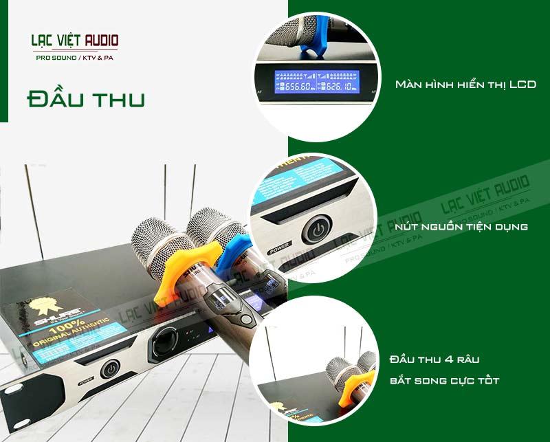 Thiết kế bên ngoài của sản phẩm Micro shure UR9D