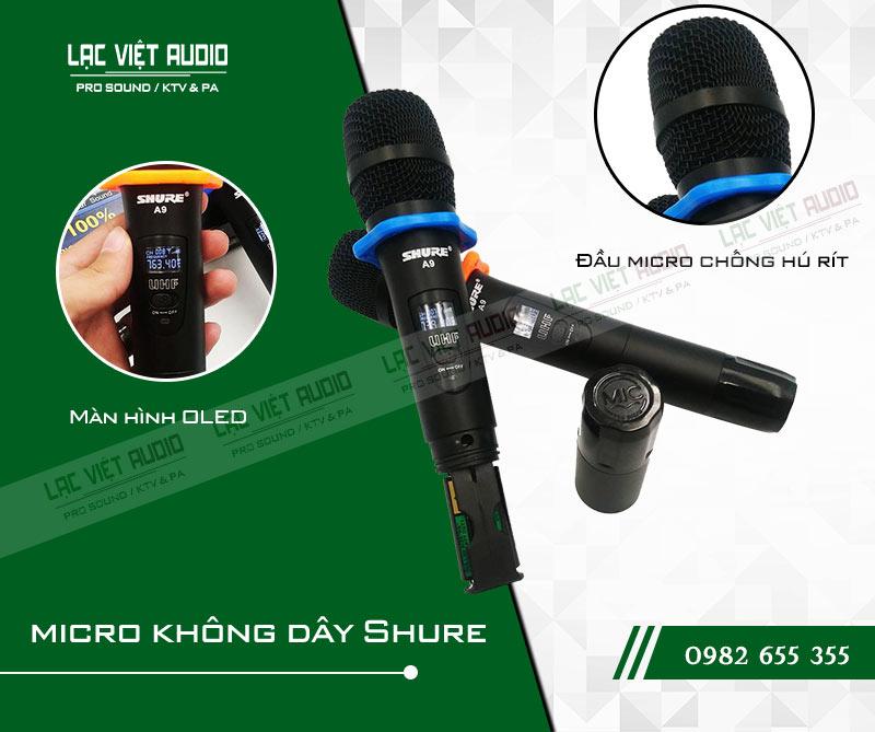 Các tính năng nổi bật của sản phẩm Micro Shure A9