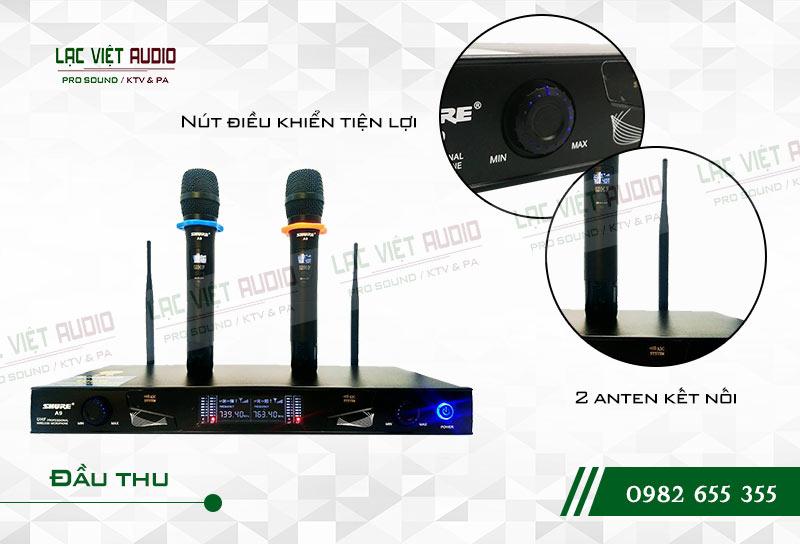 Thiết kế bên ngoài của sản phẩm Micro Shure A9