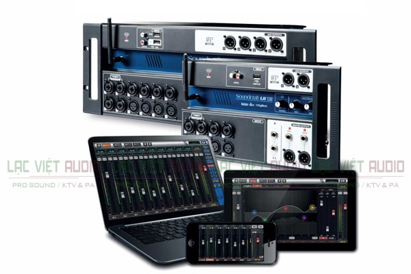 Thiết kế của sản phẩm Bàn mixer Soundcraft Ui12