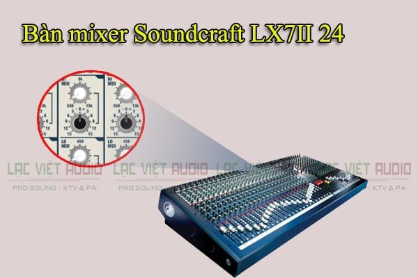 Tính năng của sản phẩm Bàn mixer Soundcraft LX7II 24