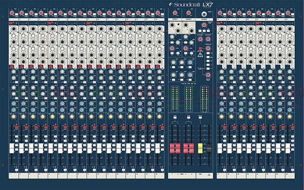 Thiết kế của sản phẩm Bàn mixer Soundcraft LX7II 24