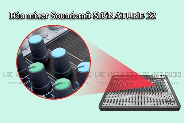 Thiết kế của sản phẩm Bàn mixer Soundcraft SIGNATURE 22