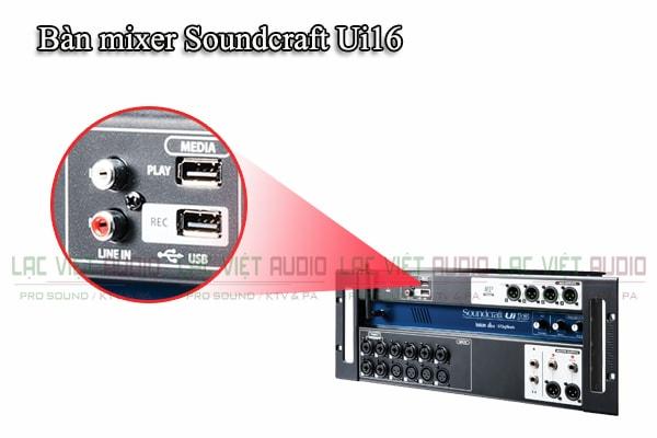 Thiết kế của sản phẩm Bàn mixer Soundcraft Ui16