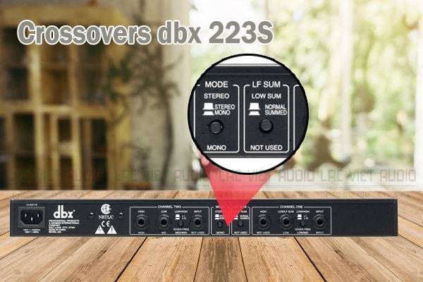 Tính năng của sản phẩm Crossovers dbx 223S