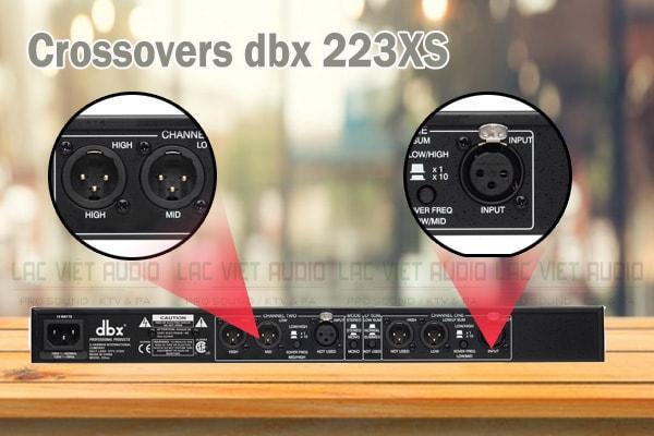 Thiết kế của sản phẩm Crossovers dbx 233XS