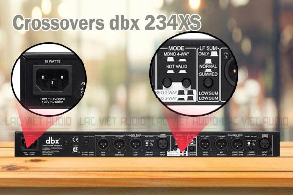 Tính năng của sản phẩm Crossovers dbx 234XS