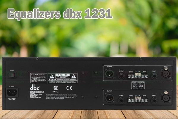 Thiết kế của sản phẩm Equalizers dbx 1231