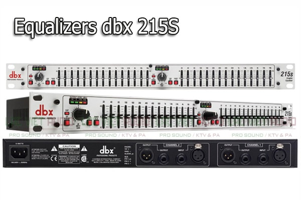 Tính năng của sản phẩm Equalizers dbx 215S