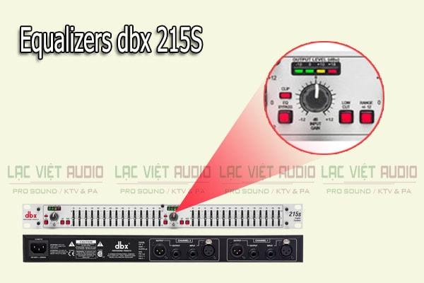 Thiết kế của sản phẩm Equalizers dbx 215S