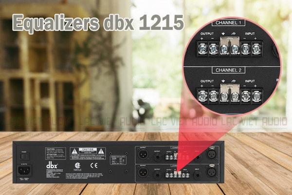 Thiết kế của sản phẩm Equalizers dbx 1215