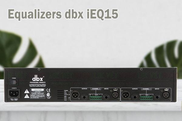 Thiết kế của sản phẩm Equalizers dbx iEQ15