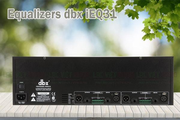 Thiết kế của sản phẩm Equalizers dbx iEQ31