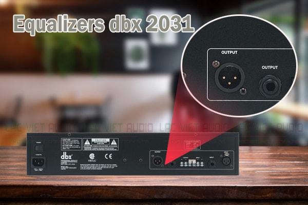 Thiết kế của sản phẩm Equalizers dbx 2031