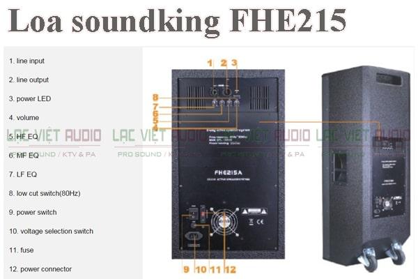 Thiết kế của sản phẩm Loa soundking FHE215