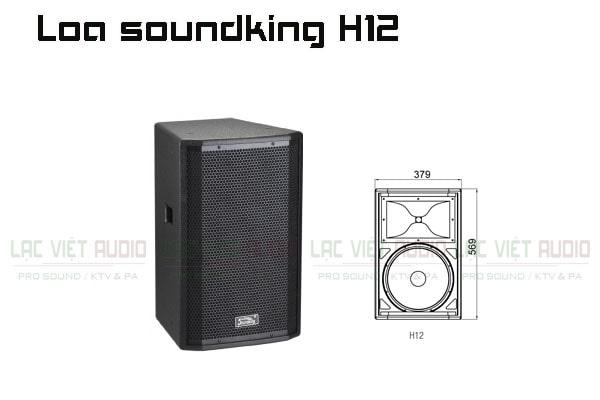 Thiết kế bên ngoài của sản phẩm Loa soundking H12