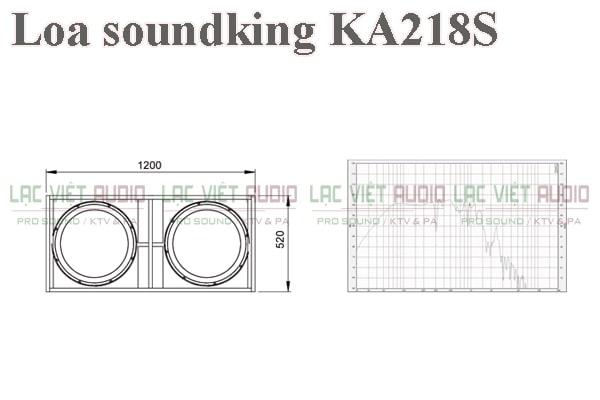 Thiết kế của sản phẩm Loa soundking KA218S