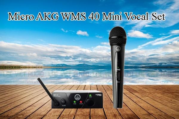 Các thiết kế bên ngoài của sản phẩm Micro AKG WMS 40 Mini Vocal Set