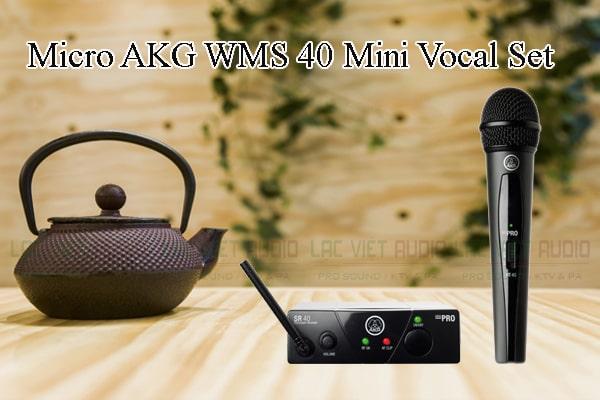 Tính năng nổi bật của sản phẩm Micro AKG WMS 40 Mini Vocal Set