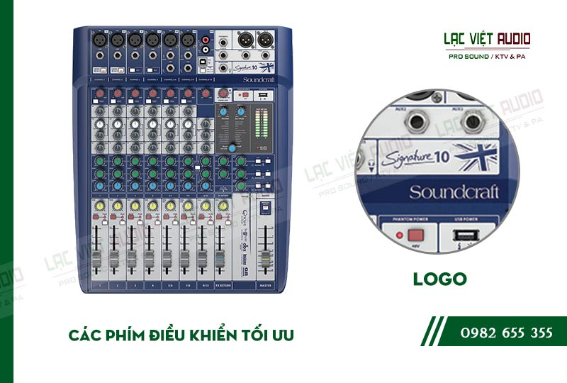 Các đặc điểm nổi bật của sản phẩm Bàn mixer Soundcraft SIGNATURE 10