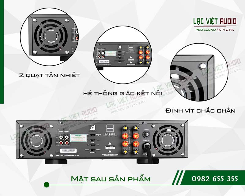 Các tính năng nổi bật của sản phẩm Cục đẩy công suất paramax DA 2500