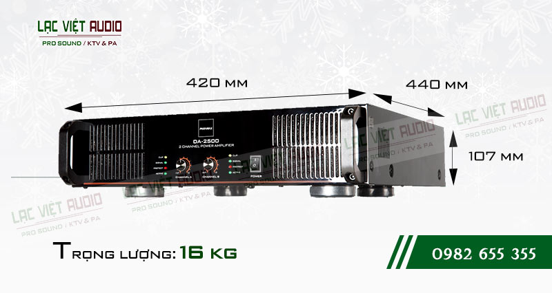 Thiết kế bên ngoài của sản phẩm Cục đẩy công suất paramax DA 2500