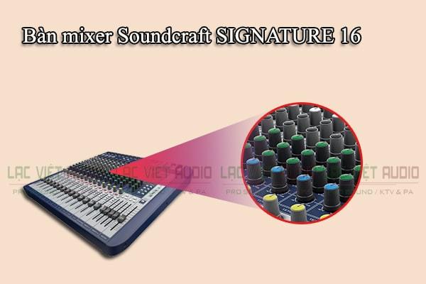 Thiết kế của sản phẩm Bàn mixer Soundcraft SIGNATURE 16