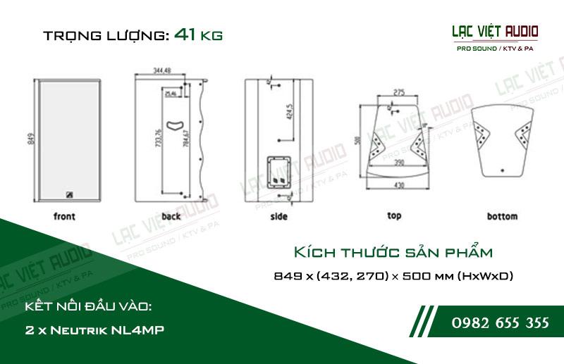Thiết kế bên ngoài của sản phẩm Loa hội trường Agasound AC 715