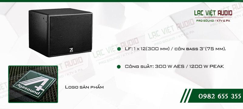 Các đặc điểm nổi bật của sản phẩm Loa Sub hơi cao cấp Agasound AFS 12B