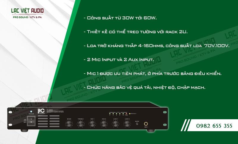 Các đặc điểm nổi bật của sản phẩm Amply ITC T30C