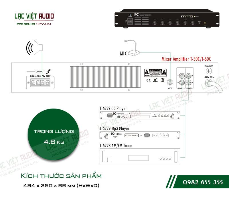 Thiết kế bên ngoài của sản phẩm Amply ITC T30C
