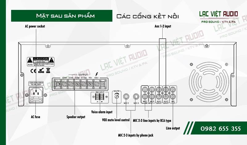 Thiết kế bên ngoài của sản phẩm Amply ITC T 350