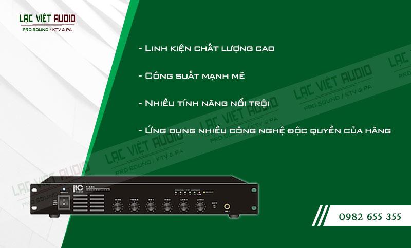 Các tính năng độc đáo của sản phẩm Amply ITC T 550