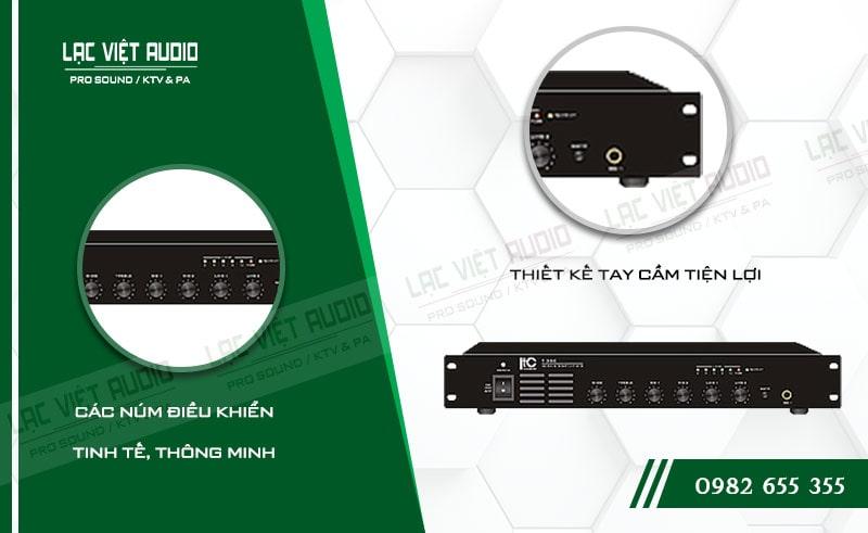 Thiết kế bên ngoài của sản phẩm Amply ITC T 550