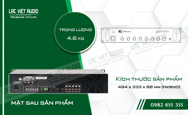 Thiết kế bên ngoài của sản phẩm Amply ITC T 60