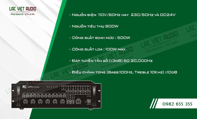 Các đặc điểm nổi bật của sản phẩm Amply ITC TI 500S